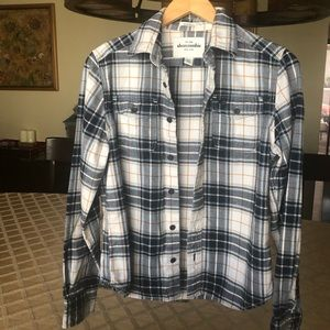 Long sleeve plaid flannel shirt. Abercrombie